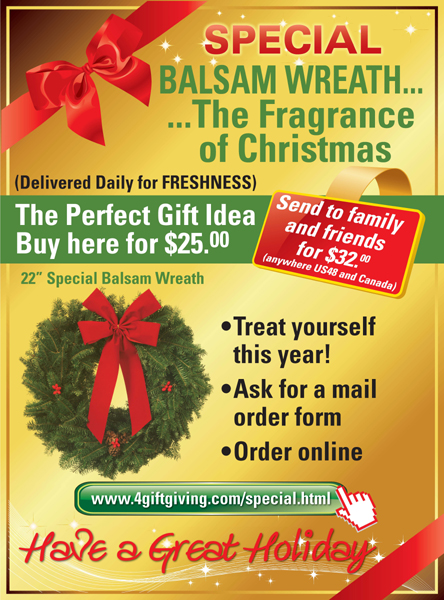 Special Balsam wreath - Promotional poster