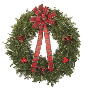 32 inch Holiday Balsam Christmas Wreath