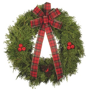 Cedar Wreaths, a unique texture
