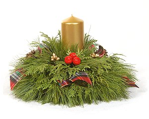 Holiday 2 Candle Centerpiece