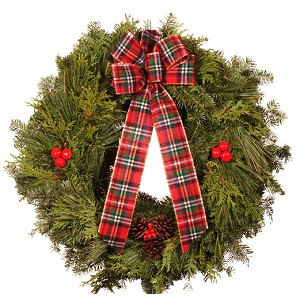 22 inch Holiday Mixed Christmas Wreath