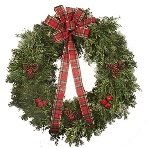 32 inch Holiday Mixed Christmas Wreath
