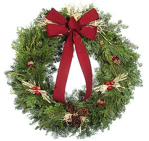32 inch Contemporary Mixed Christmas Wreath