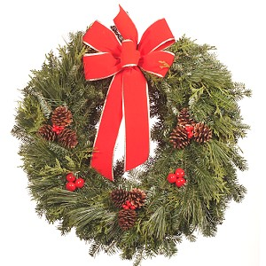 22 inch Premium Mixed Christmas Wreath