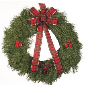 32 pouces Holiday Pine Christmas Wreath